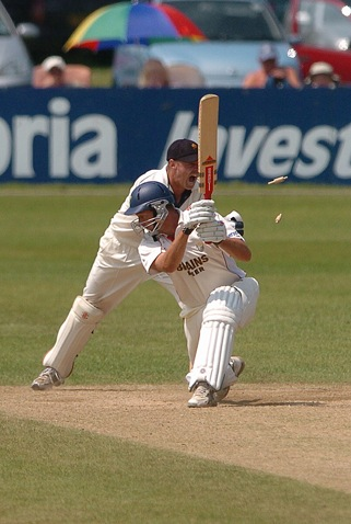 Glamorgan batsman Dean Cosker being stumped by Derbyshire wicketkeeper Jamie Pipe, 2006.