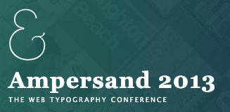 Ampersand 2013 conference logo.