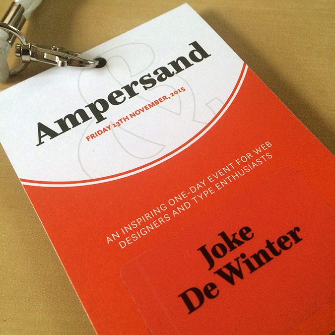 Ampersand Conference pass, 2015.