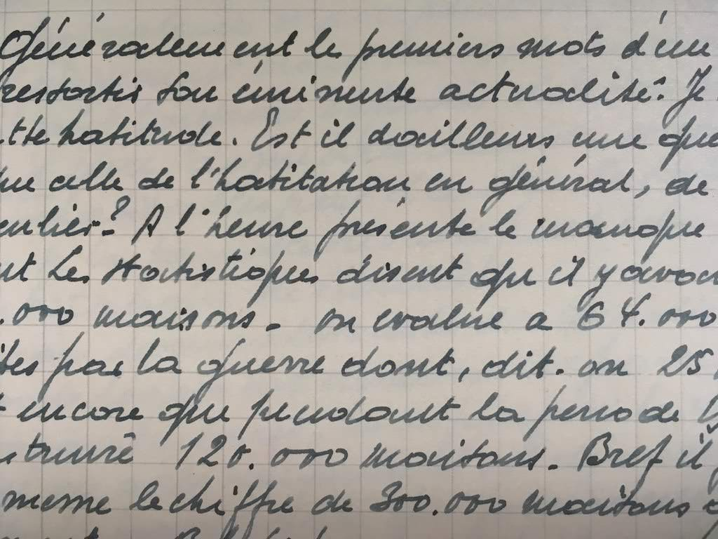 Handwritten extract from my grandfather's thesis.