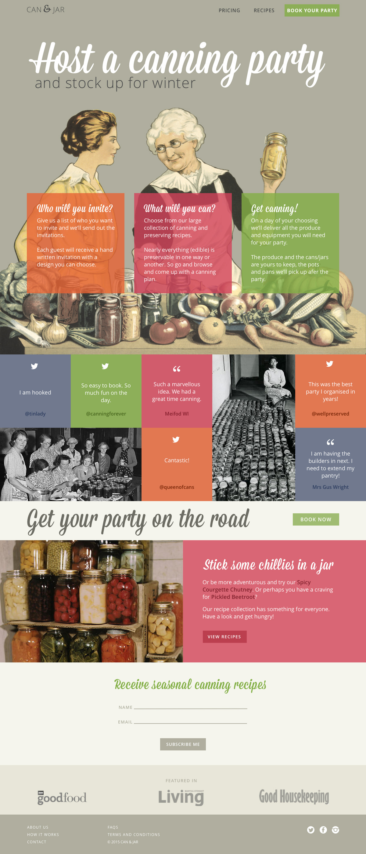 Can & Jar page layout for the Net Magazine design challenge