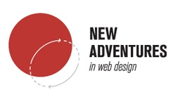 Logo for the New Adventures in Web Design conference, 2012.