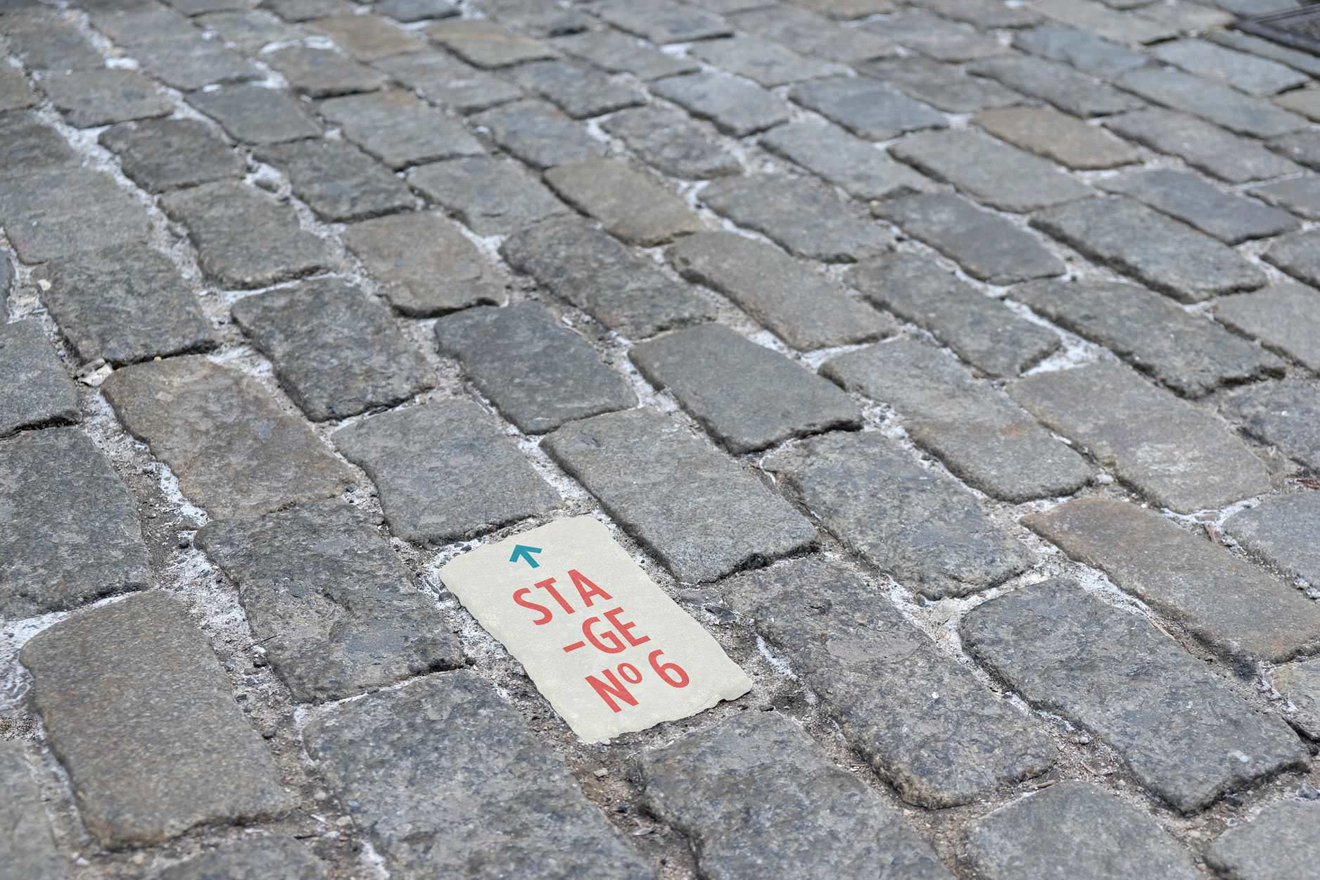 Pavement stone way finding for Festival No 6. Student brief at Shillington.